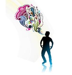 magic power man vector image vector image