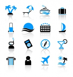 travel icons vector image