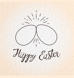 two easter eggs cracking each other vector image