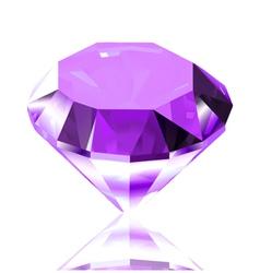 Violet diamond vector image
