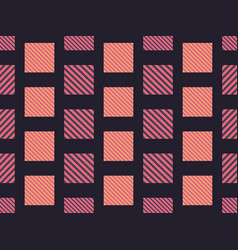 checkered seamless pattern with diagonal stripes vector image