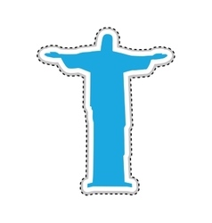christ the redeemer or corcovado icon image vector image
