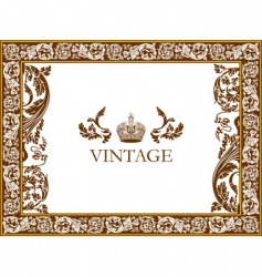 gothic frame vector image vector image