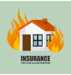 house insurance protection design vector image