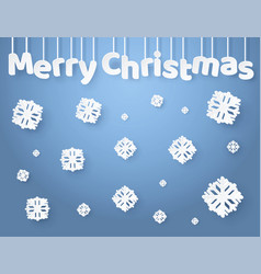 merry christmas inscription made of paper letters vector image vector image