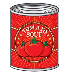 Tomato soup can vector image vector image