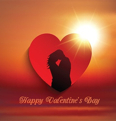 valentines day couple background 0601 vector image vector image
