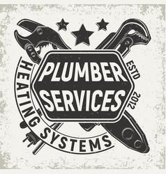 vintage emblem design vector image vector image