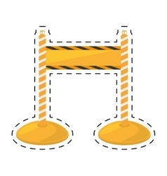 Barrier warning fence caution cut line vector