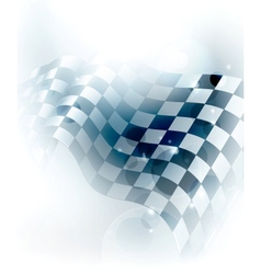 Blue Checkered Background vector image