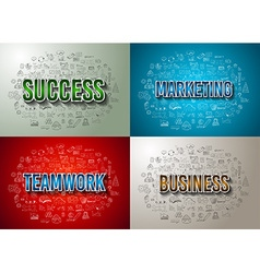 Business Success and Marketing Strategy concept vector image