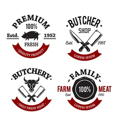 Butchery Emblems 1 vector image