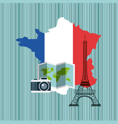 france map geography icon vector image vector image