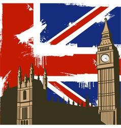 Grunge British Background vector image vector image