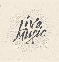 live music sign badge logo poster flyer vector image vector image