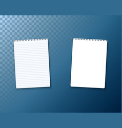 realistic blank notepad textbook icon notepad vector image