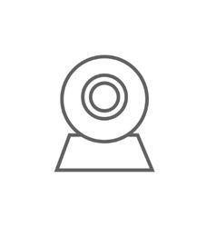 Web camera line icon vector image