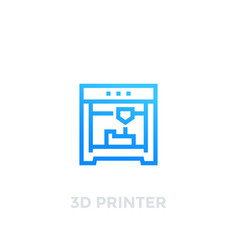 3d printer icon on white vector image