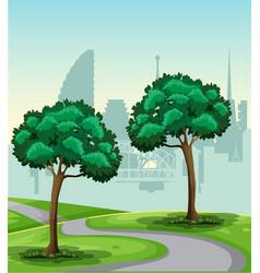 a park nature landscape vector image