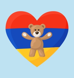 Armenian Teddy Bears vector image
