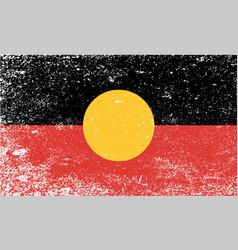 australian aboriginal grunge flag vector image