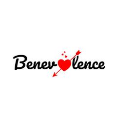 Benevolence word text typography design logo icon vector