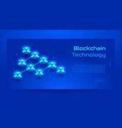 Blockchain isometric concept banner vector