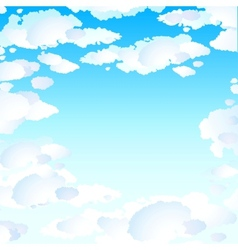 Blue skies with clouds vector image