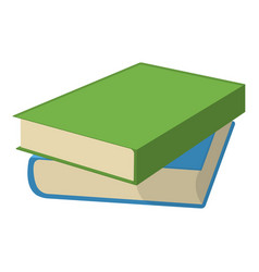 book and textbook school supplies icon and logo vector image