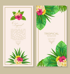 Botanical vertical banners set vector