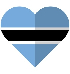 Botswana flat heart flag vector
