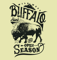 buffalo hunt vector image