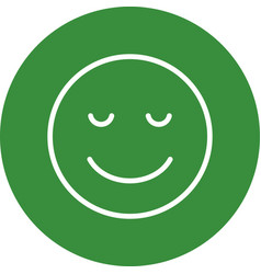 Calm emoji icon vector