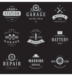 Car Service Logos Templates Set vector
