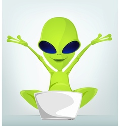 Cartoon Alien vector image