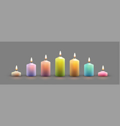 color burning candles vector image