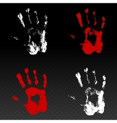 Colored prints of human hand vector