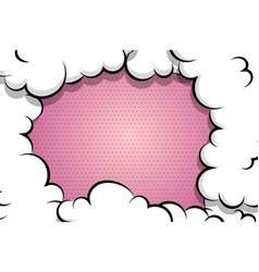 Comic book cartoon speech bubble for text vector