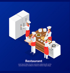 cooking isometric background vector image