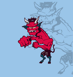 crazy cartoon devil cartoon character vector image