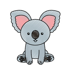 Cute scribble koala cartoon vector