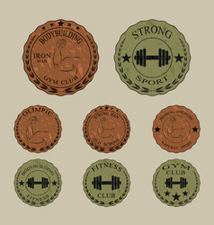 different emblem for bodybuilding and fitness vector image