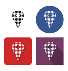 dotted icon location in four variants with vector image