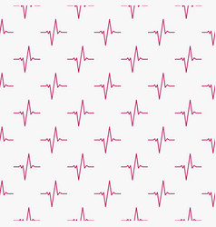 ekg cardiograms seamless pattern or vector image