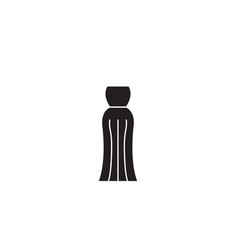 evening gown black concept icon evening vector image
