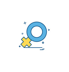 female icon design vector image