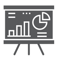 Financial analysis glyph icon finance and banking vector