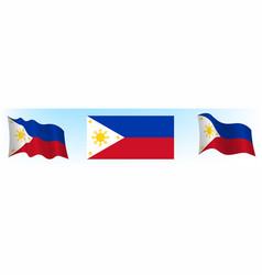 Flag republic philippines vector
