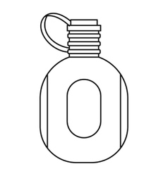 Flask icon outline style vector