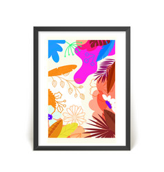 Frame with abstract composition vector
